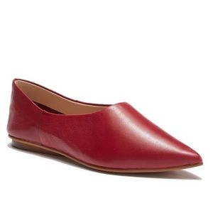 NEW Vince Camuto Stanta Pointy Toe Leather Flats